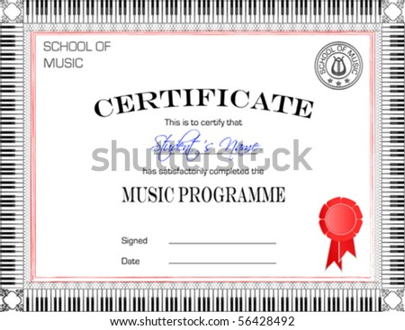 Vector Certificate of Completion Template - stock vector