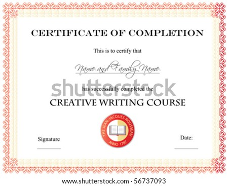 Vector certificate completion template 56737093 vector certificate of completion template yelopaper Images