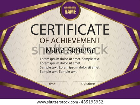 Vector certificate diploma template award winner stock vector vector certificate or diploma template award winner reward winning the competition the yelopaper Choice Image