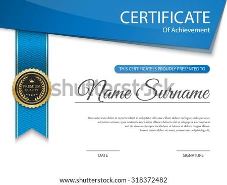 Vector certificate template. - stock vector