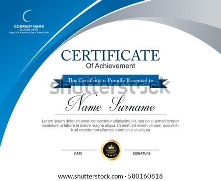 Vector Certificate Template Stock Vector   Shutterstock
