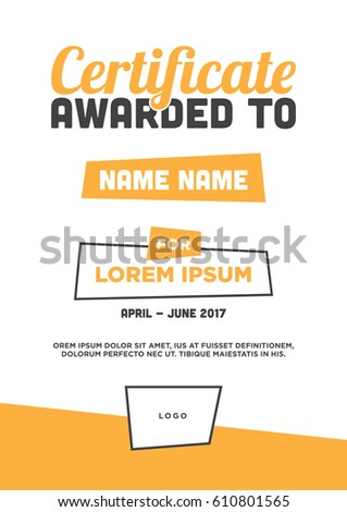 Vector certificate template awardcertificate concept modern stock vector certificate template award certificate concept modern clean and beautiful colourful graphic design yelopaper Gallery
