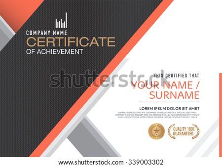 Vector certificate template. modern,luxurious, unique - stock vector