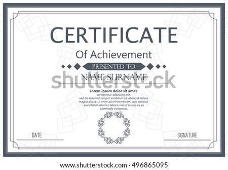 Vector certificate template vector award graduation stock vector vector certificate template vector award graduation certificate achievement success template border business paper coupon wajeb Gallery