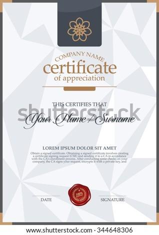 vector certificate template.vector certificate template. Luxury and elegance. - stock vector