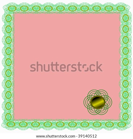 Vector Certificate With Gold Seal - stock vector
