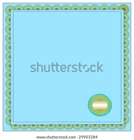 Vector Certificate With Seal - stock vector