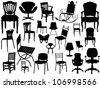 Vector Chair Set - stock vector