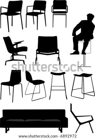 vector - chair set design element - stock vector