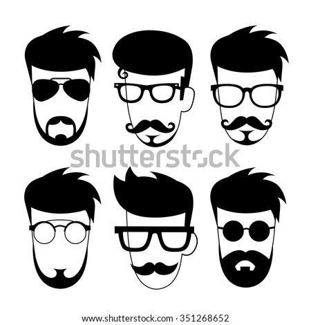 vector character cartoon hipster style