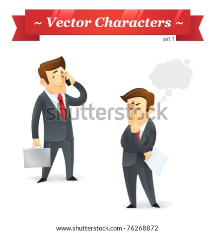Vector characters. Business Set 1. - stock vector