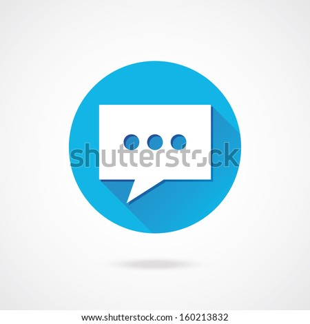 Vector Chat Icon - stock vector