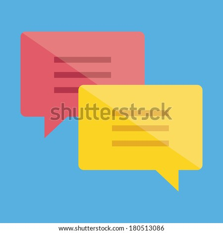 Vector Chat Icon 2 - stock vector