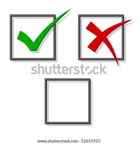 vector check marks - stock vector