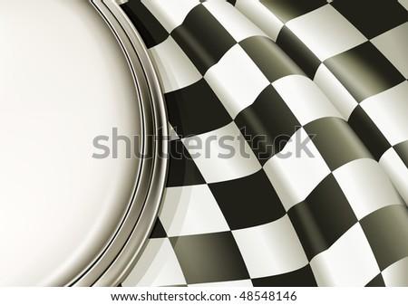 Vector Checkered Background - stock vector