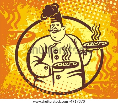 vector chef logo - stock vector