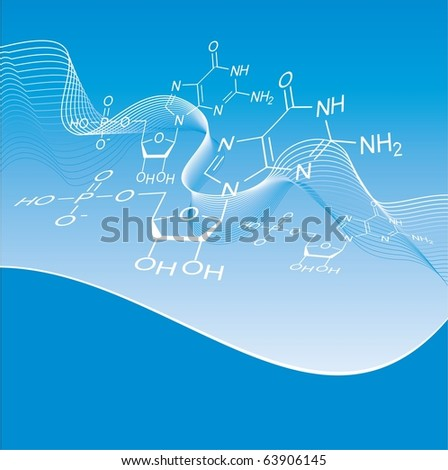 Vector chemical formula - stock vector