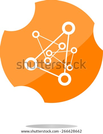 vector chemistry icon (button) isolated on white background - stock vector