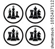 vector chess piece set icons...