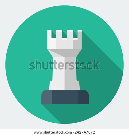 Vector Chess Rook icon - stock vector