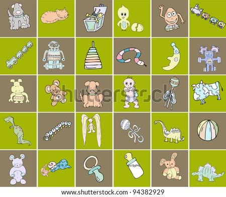 vector children's toys - stock vector