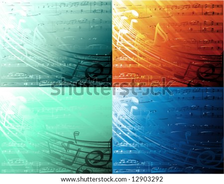 vector chill-out musical backgrounds - stock vector
