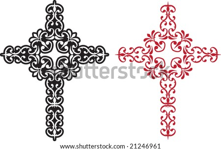 Vector Christian Cross Design abstract background - stock vector