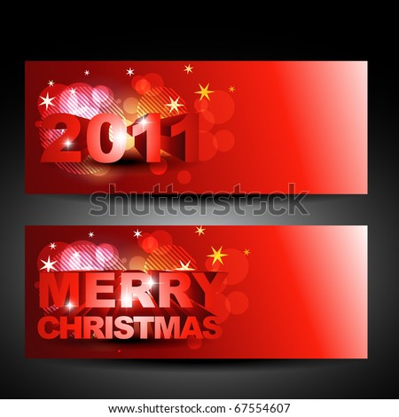 vector christmas and new year labels design - stock vector