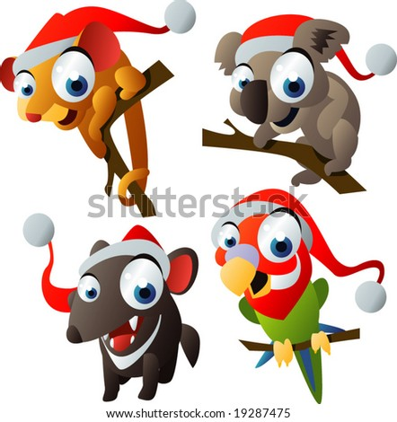 Royalty-Free (RF) Australian Christmas Clipart and Illustrations 1