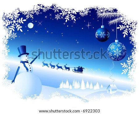 Vector Christmas Background. All elements are grouped in layers. Enjoy - stock vector
