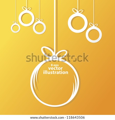 vector christmas background. cut paper design