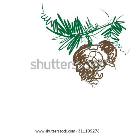 VECTOR  Christmas  background for design - stock vector