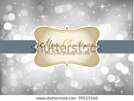 Vector Christmas background with label and place for your text - stock vector