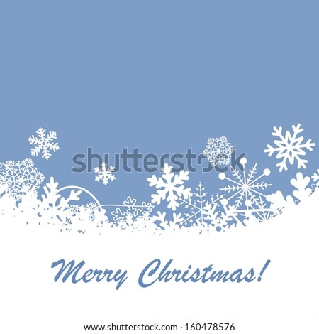 Vector Christmas background with snowflakes. - stock vector