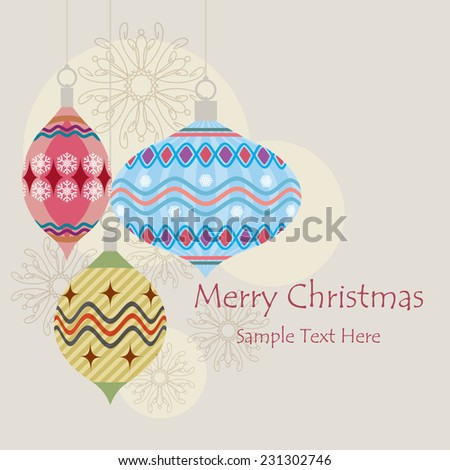 Vector Christmas ball made from geometric - Christmas card / Christmas background with Christmas ball illustration / geometric patterns Christmas ball greeting card