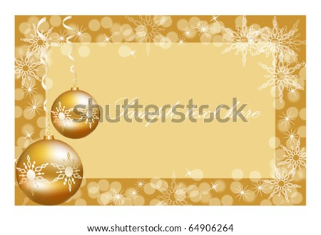 Vector Christmas ball on abstract golden lights background, eps 10 - stock vector