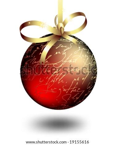 Vector Christmas bauble - stock vector