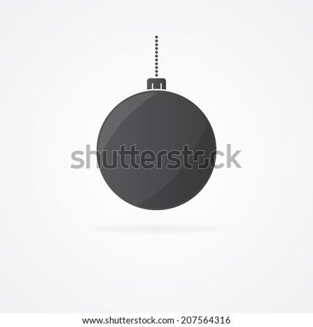 Vector christmas bauble icon. - stock vector