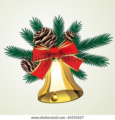 Vector Christmas bell - stock vector