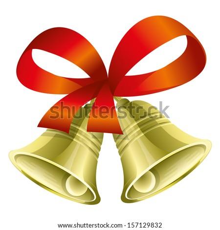 Vector. Christmas bells. - stock vector