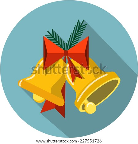Vector Christmas Bells - stock vector