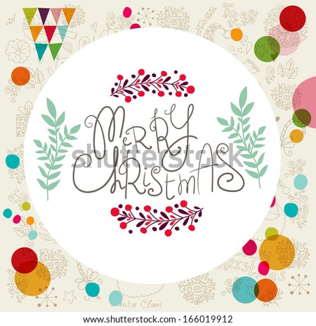 Vector Christmas card - stock vector