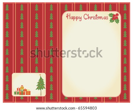 Vector christmas card for celebrate.Retro background for text - stock vector