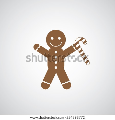vector christmas cookies symbol  on gray background  - stock vector