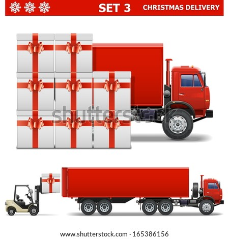 Vector Christmas Delivery Set 3 - stock vector