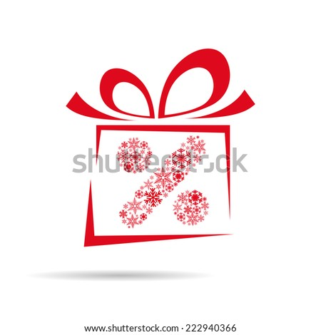 Vector Christmas discounts and promotions box