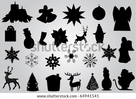 vector christmas elements
