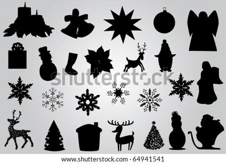 vector christmas elements - stock vector