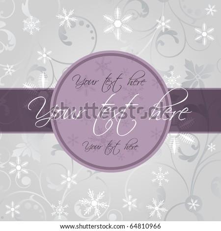 Vector christmas frame. - stock vector