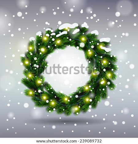 Vector Christmas Greeting Card Happy new year xmas - stock vector
